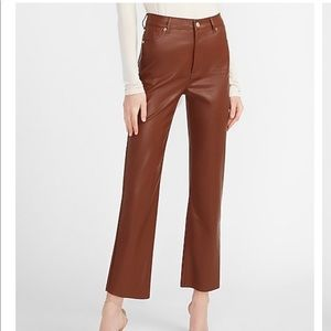 Express Brown Leather Pants